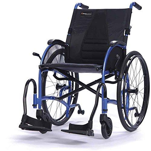 bescomedical, STRONGBACK, UltraLeichtgewicht-Faltrollstuhl, Transportrollstuhl, Steckachsensystem, Sitzbreite 40 cm