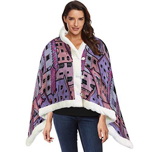 Hausbau Beauty Design Wrap und Schal Schal Wrap Schal 53 x 30 Zoll mit 3-Knopf für Sofa im Freien Wraps und Schals Soft Nap Blanket