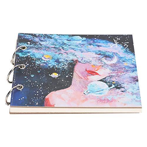 Cuaderno de dibujo portátil Sketch para dibujo pintura de arte (cartón blanco)