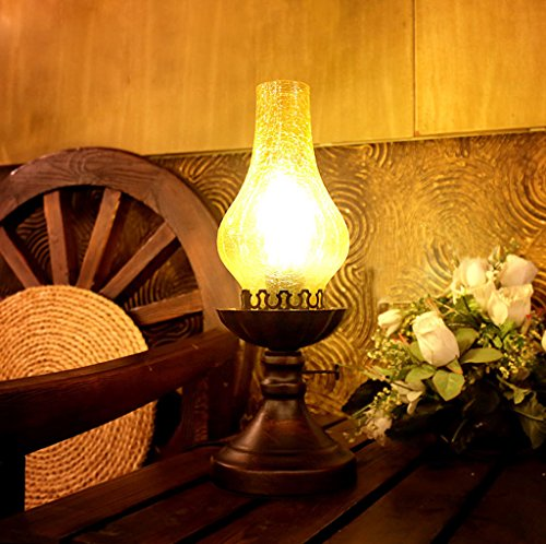 Luodan Kai kontinental retro vintage fotogenlampa sovrum sänglampa kreativ lampa antik lampa republik