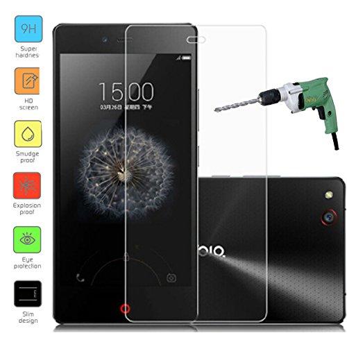 Owbb Glas Display Schutzfolie für ZTE Nubia Z9 Mini Smartphone Screen Panzerglas Protector Hartglas Schutzfolie nur 0.3mm dünn, 9H, 2.5D Round Edge
