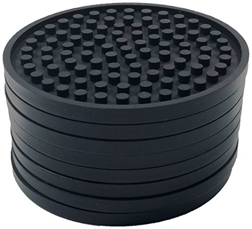 Better Kitchen Products 8 Piece Silicone Coaster Set, Black