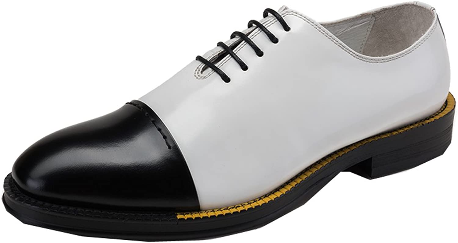 MEbox Mens Wing Tip Lace Up Leather Oxford Dress shoes