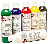 6 x 300ml Scola Textilfarbe verschiedene Farben Set fab300 /6 /A -