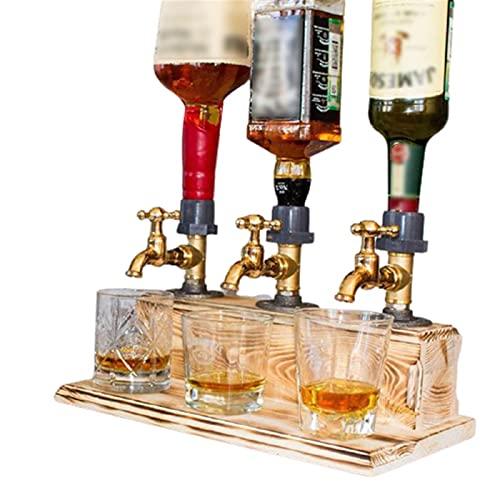 Mnwan Tapas de Cerveza con Tres grifos para Barras caseras, Licor de Padre Licor de Alcohol Whisky Madera para Bebidas de Fiesta bastidores de Vino Cocktail dispensador de Vino.