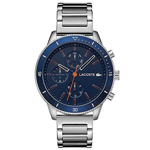 Lacoste Herren Multi Zifferblatt Quarz Uhr mit Edelstahl Armband 2010995