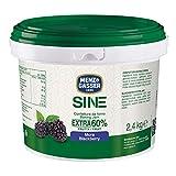 MENZ&GASSER Confettura Extra di More 60% Secchiello Sine, con Alta Percentuale di Frutta - Confettura da Forno e Pasticceria, Senza Glutine, 1 Secchio x 2,4 Kg
