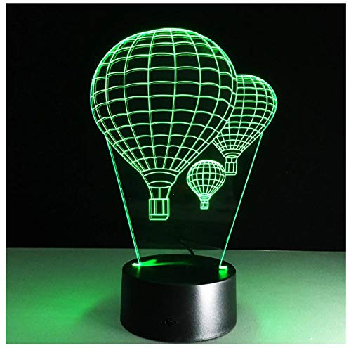 Luz nocturna para niños Luz nocturna 3D globo aerostático 7 colores cambian la luz nocturna para niños con Smart Touch Decoración del hogar del dormitorio para niños niños niñas