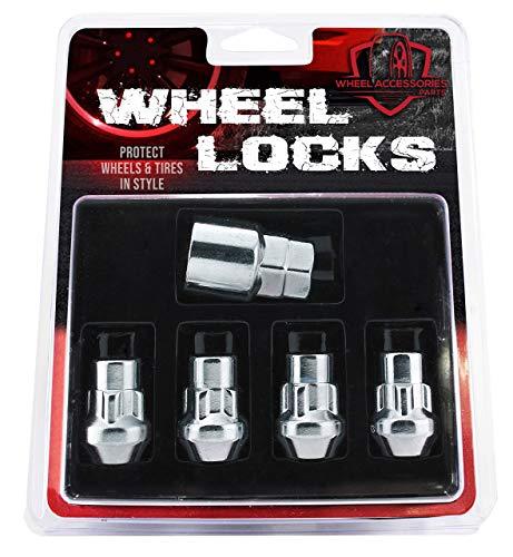 Wheel Accessories Parts 12x1.5 Wheel Locking Lug Nuts Closed End Bulge Acorn Chrome M12 x 1.50 Thread Size 1.26