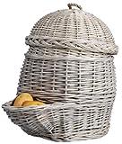 esschert design cestino di patate, grigio