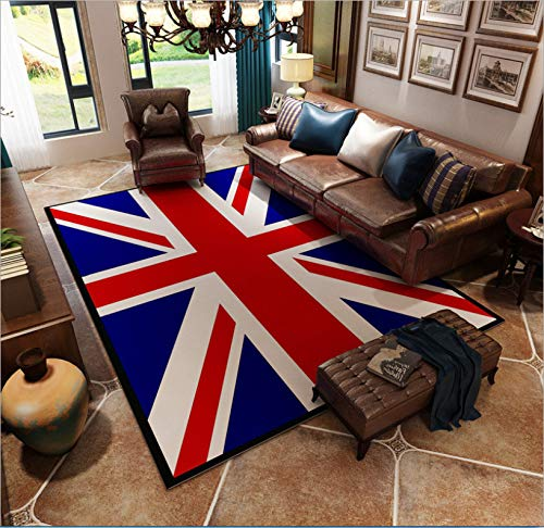 Alfombra Inglés Viento Bandera De Arroz Americano Retro Tendencia Sofá Sala De Estar Mesa De Té Dormitorio Junto A La Cama Estera De La Ventana 120 Cm X 200 Cm