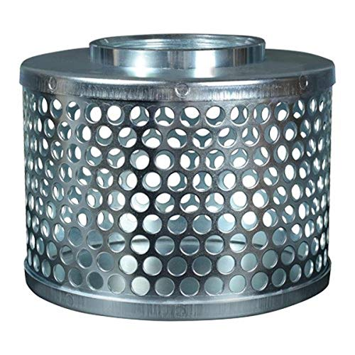 Apache 70002000 Round Hole Suction Strainers, Plated Steel, 4