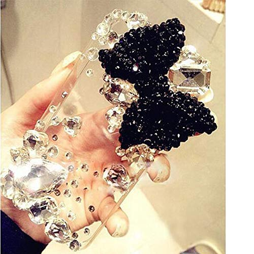 KESHOUJI Rhinestone Diamond Cover Case para iPhone 11 Pro XR XS MAX Luxury Bling Shell Soft Phone Jeweled Funda para iPhone 6 6S 7 8 Plus, 1, para iPhone 11Pro MAX