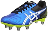 Asics Lethal Tackle, Chaussures de Rugby Homme - Bleu (electric Blue/white/flash Yell 3901) - 42 EU ( 7.5 UK )