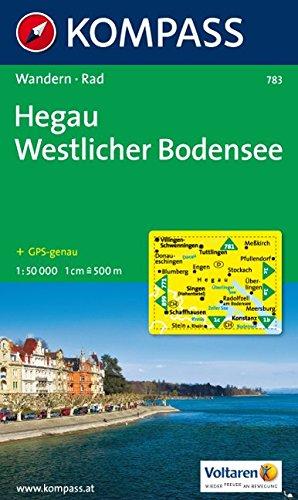 Hegau, Westlicher Bodensee: Wander- und Bikekarte mit Panorama. 1:50.000