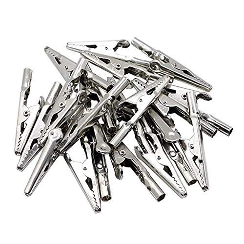 Pinzas de cocodrilo con tornillo Pinzas de cocodrilo de alambre de metal...