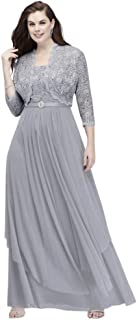 Plus Size Sequin Lace and Mesh Plus Overskirt Jacket Mother of Bride/Groom Dress Style 7300W