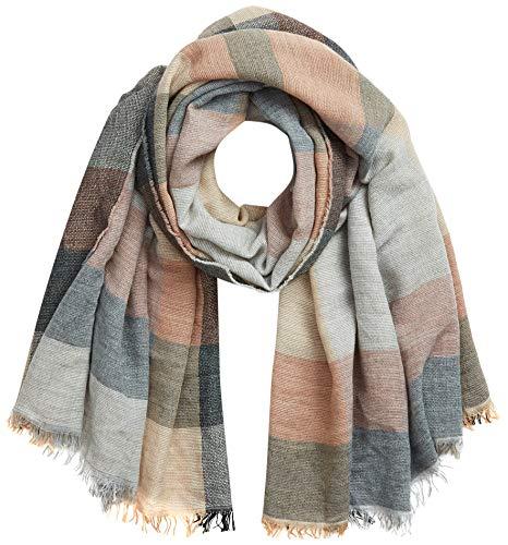 APART przytulny szal, prostokątny, w kratkę, beżowo-różowy, jeden rozmiar