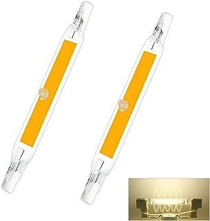 JINGBO Bombilla R7S LED 118mm, 2000LM, 20W para Sustitución de Halógeno de 200W, 360 Grados Luz, Regulable, LED R7S COB 118mm para Plafones, Lámpara en el Baño, Pack de 2,Natural White,230V