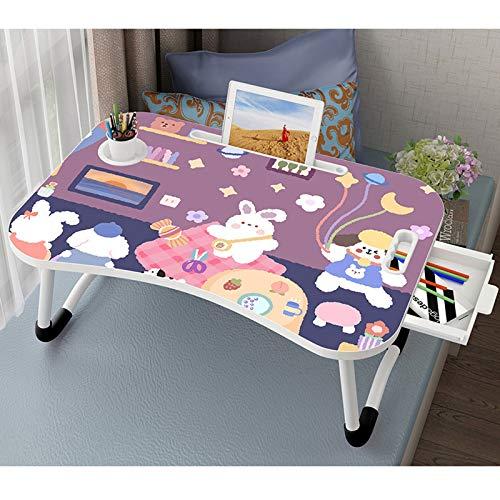Lap Desk Mini Picknicktisch Faltbare Laptoptisch mit Tassenhalter Einfache Kleine Schreibtischbett Schreibtisch...