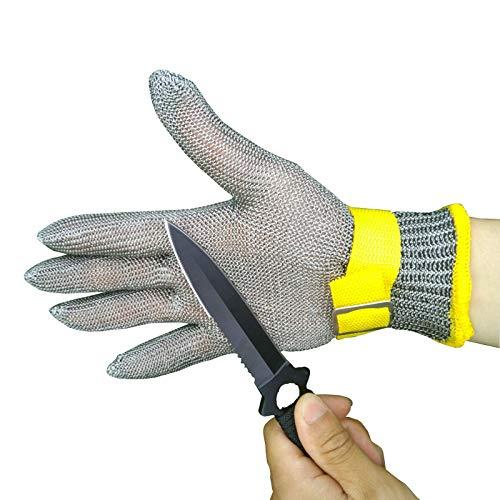 Schnittfeste Handschuhe Schneideständige Handschuhe, Sicherheitsarbeitshandschuhe Mit Stufe 5 Schutz, Polyethylenfaser Und Edelstahldrahtgewebe (Size : Small)