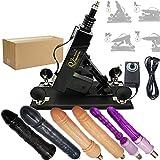 Qijian Automatic Thrusting Gun Machine Thrust Gun Machinec Female Male Health Fun Supplies Toys (Black)
