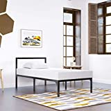 YITAHOME Twin Size Bed Frame with Headboard/14 Inch Platform/Wood Slat Support/Mattress Foundation/No Box Spring Needed