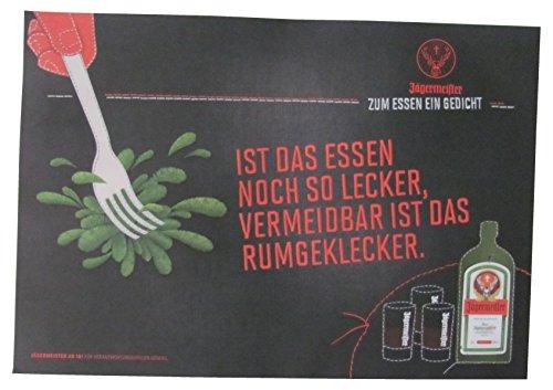 Jägermeister - Platzdeckchen aus Papier 38,5 x 26,8 cm - Ist das Essen noch so lecker, vermeidbar ist das rumgeklecker