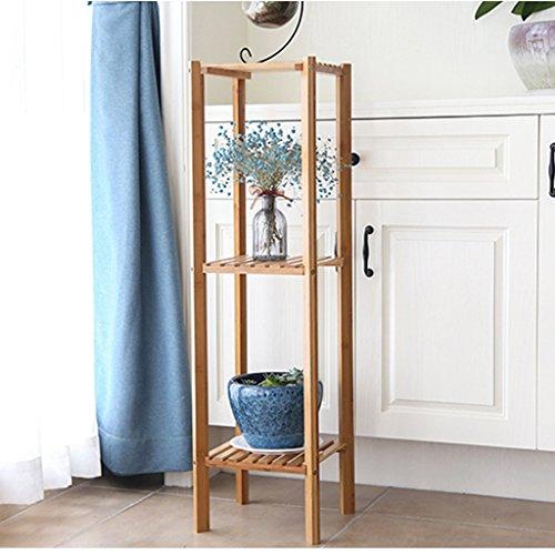 Ali@ Salle de séjour Intérieur Style de plancher multicouche en bambou Pot de fleur (taille : Three layers)
