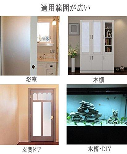 DUOFIRE窓めかくしシート窓用フィルムすりガラス調ガラスフィルム水で貼る貼り直し可能目隠しシート断熱遮熱シートUVカット艶消し白い色DS001W(0.3MX2M)