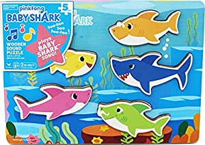Pinkfong Baby Shark Chunky Wood Sound Puzzle - Plays Baby Shark Song from Cardinal Inductries