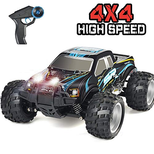 DOUBLE E RC Car 4WD High Speed Off Road Remote Control Truck 2.4GHz Head Lights 800mah Battery for Boy Girls Kids