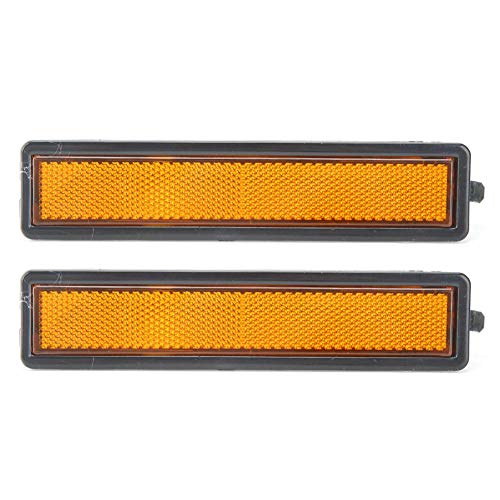 huaer Seitenmarkierungsleuchte, passend für 318i 318is 525i 740i E32 63141377849 Staub- und feuchtigkeitsgeschützte Blinker-Markierungsleuchte Stoßstangenleuchte(Gelb)