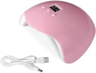 WE-WHLL 36W Secador de uñas Profesional Lámpara UV LED Sensor automático Gel acrílico Curado Rosa Claro