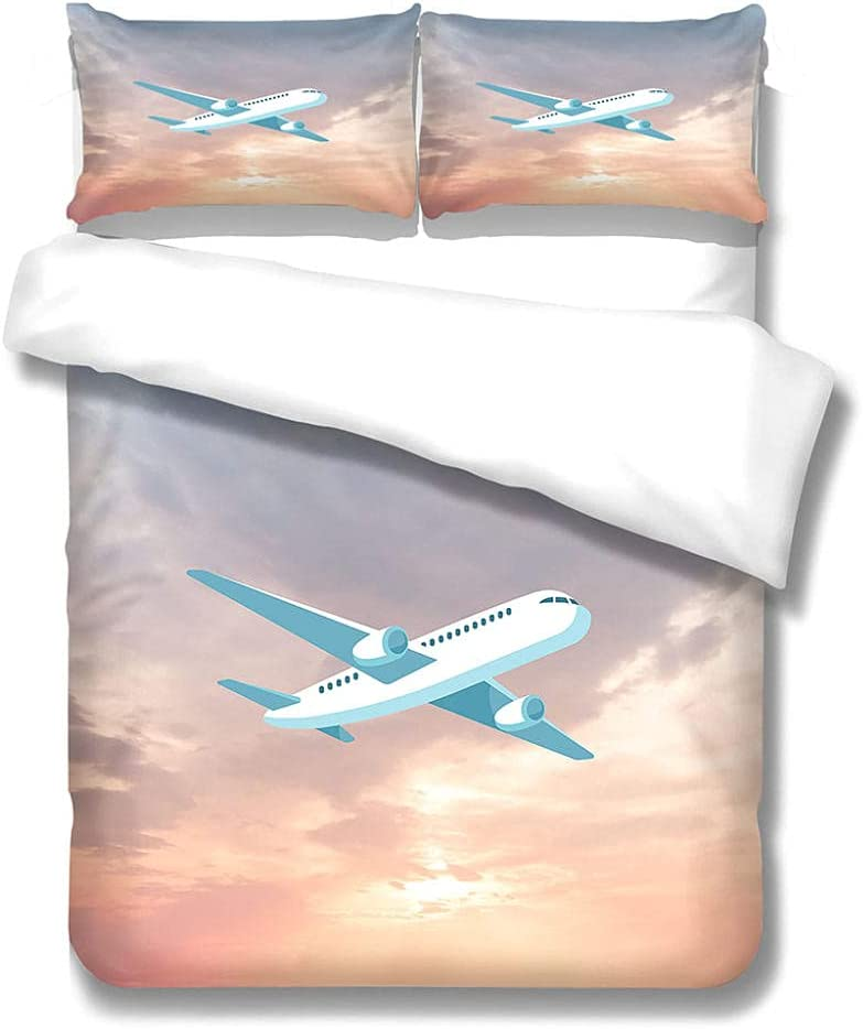 MENGBB Toddler Bedding Sets for Boys discount Sunset Inch Airplane Opening large release sale 86X90