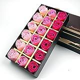 Binnan 18 Stücke Rosen Duftseifen,Rose Blume Duftseifen mit Geschenkbox für Geburtstags