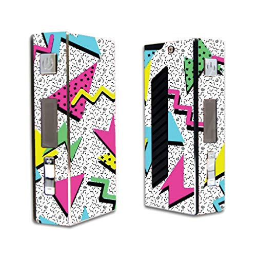 Decal Sticker Skin WRAP Retro 90's Yellow Blue and Pink Design for Sigelei 50W VR2
