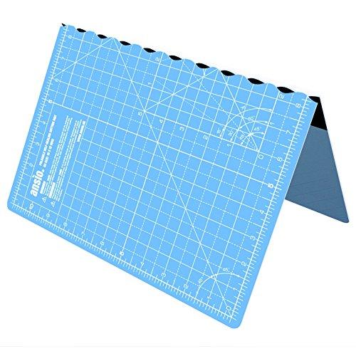 ANSIO Alfombra de corte plegable autocurativa A3. Ideal para Manualidades, Acolchados, Costura,...