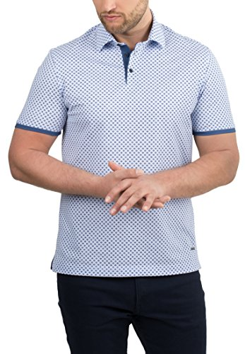 eterna Modern Fit Poloshirt hellblau dunkelblau Minimaldessin 2205-12-C862 (38)