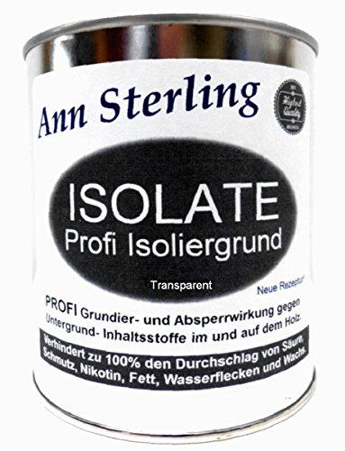 1Kg Isoliergrund Absperrgrund für Kreidefarbe Isolate Profi Sperrgrund Grundierung Shabby Chic