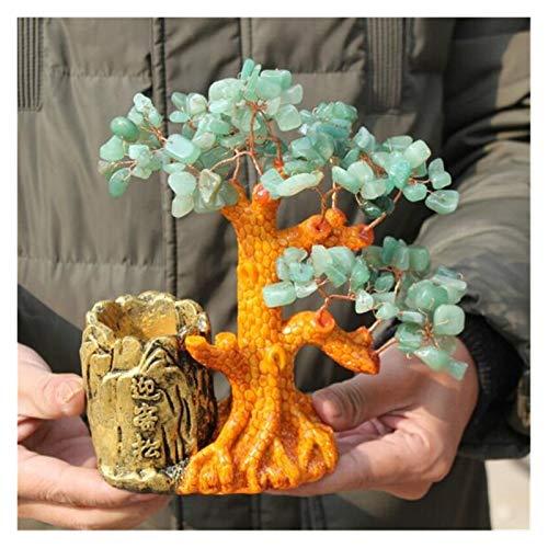 zxb-shop Gemstone Money Tree Crystal Creative Tree Get Rich Decoración de árbol Crystal Lucky Tree Stone Spirit Spirit Tree Crystal Home Decoración Cristal Árbol