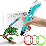 3D Penna Stampa, 3D Pen Intelligent 3D Pen Display LED 3 Colori Metri a filamento di...