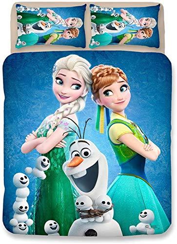 EA-SDN - Juego de funda nórdica de 2 a 3 piezas, diseño de Frozen de Frozen y Frozen (funda de edredón de 140 x 200 cm y funda de almohada de 50 x 75 cm), Frozen #3, 140 x 200 cm