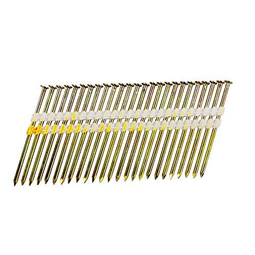 BHTOP 3 Inch Framing Nails, 21 Degree Bright Smooth Shank Plastic Collated Nails for Framing Nailer, 3 x .131,(1000 per Box)
