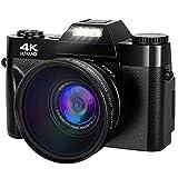 Camera 4K Digital Camera 48MP Vlogging Camera for YouTube 30FPS Vlog Camera 16X Digital Zoom Camera with Flip Screen Camera (Without Micro sd Card)