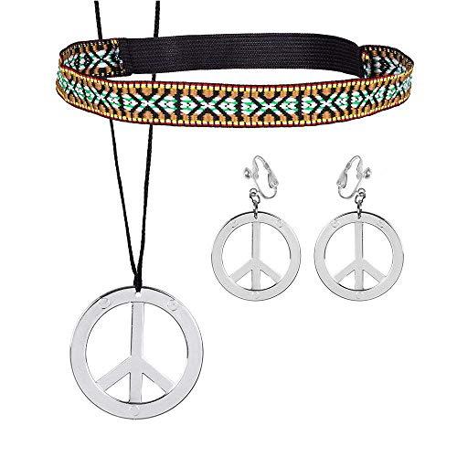 Boland 44536 Hippie Set met hoofdband, oorbellen en halsketting