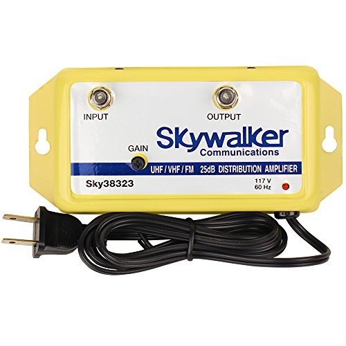 commercial tv signal amplifier Skywalker Signature Series SKY38323 25 dB VHF / UHF / FM Variable Gain Amplifier (SKY38323)