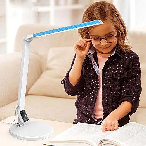 Lámpara de escritorio led pupilas love and love eye desk dormitorio de estudio para niños dormitorio dormitorio lámpara de cabecera redonda_blue_touch interruptor