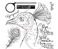 鳥の透明なクリアシリコンスタンプ/DIYスクラップブッキング/フォトアルバム用シール装飾的なクリアスタンプシートB0671