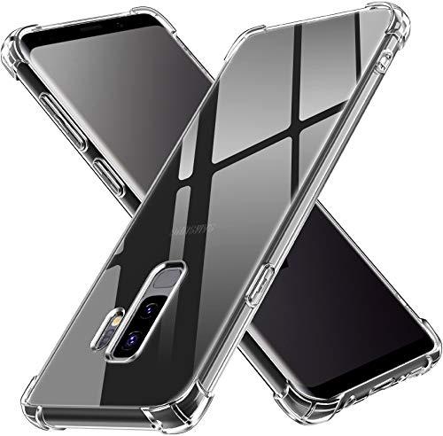 ivoler Funda para Samsung Galaxy S9+ / Samsung Galaxy S9 Plus, Carcasa Protectora Antigolpes Transparente con Cojín Esquina Parachoques, Suave TPU Silicona Caso Delgada Anti-Choques Case